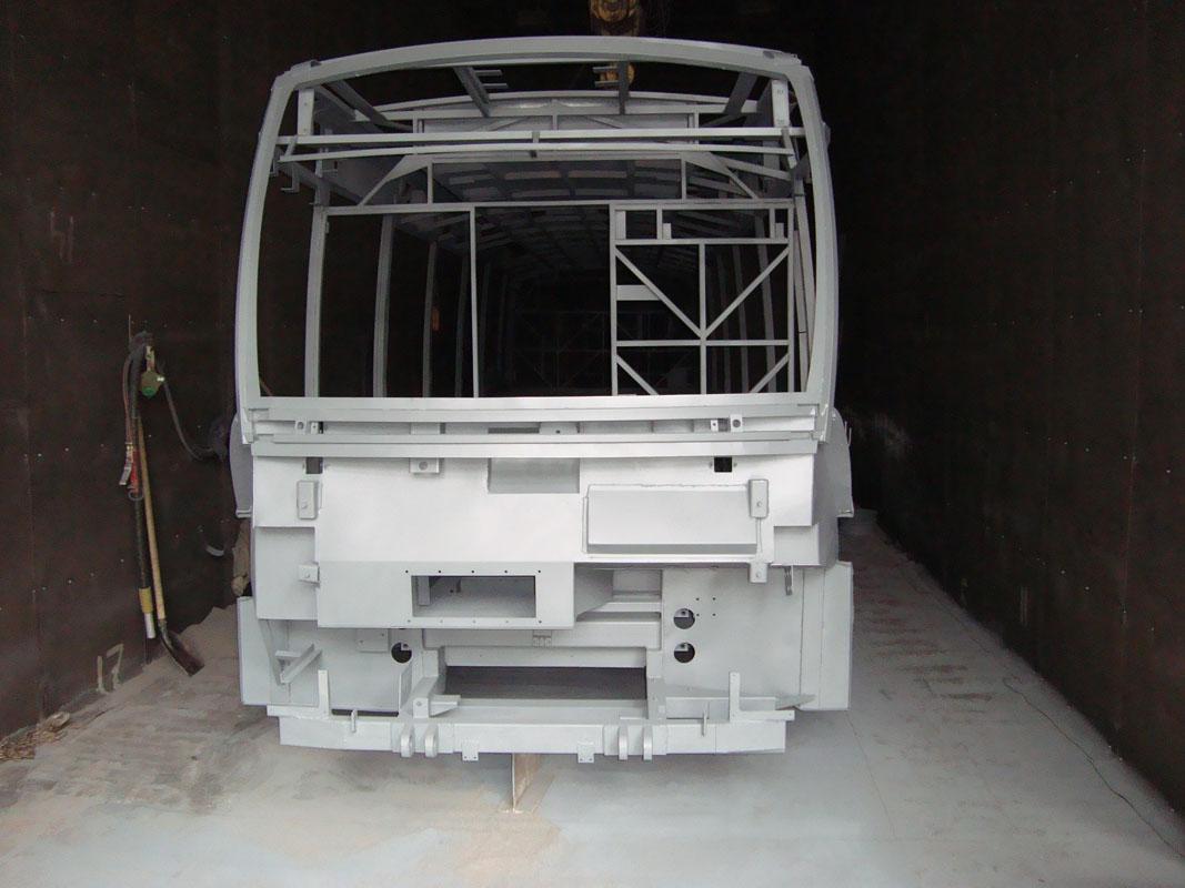 Обработка рамы троллейбуса